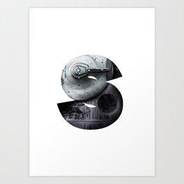 Geek letter S Art Print