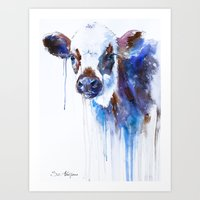 cow Art Prints featuring Cow by Slaveika Aladjova