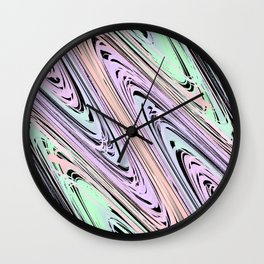 Colorful Waves Wall Clock