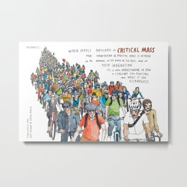 Critical Mass from Meanwhile in San Francisco Metal Print