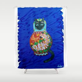 Matryoshka Cat Shower Curtain