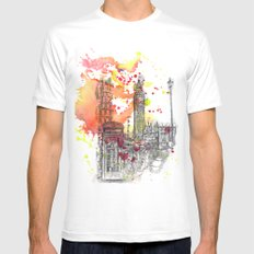 London Scene SMALL White Mens Fitted Tee