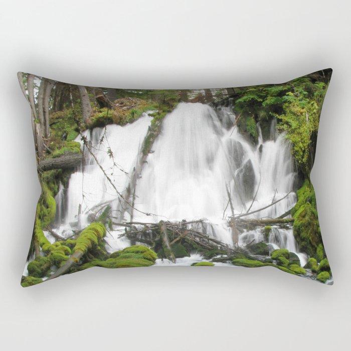 Clear Creek Falls Rectangular Pillow