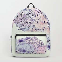 flower heart . sylvia plath quote . the bell jar Backpack