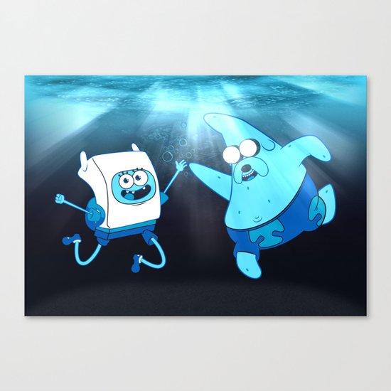 SpongeFinn AdventurePants Canvas Print
