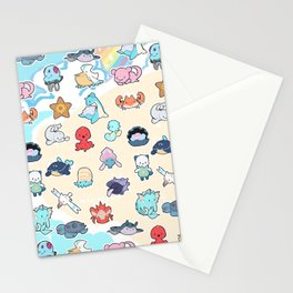Water Pocket Monsters Stationery Cards