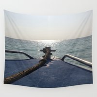 thailand Wall Tapestries featuring Thailand Boatride by Plutonian Oatmeal