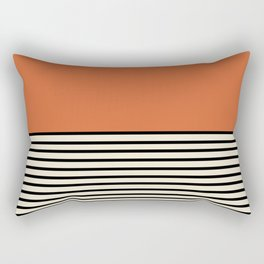 Sunrise / Sunset I - Orange & Black Rectangular Pillow