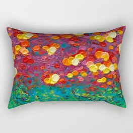 Rainbow Bubbles teardrop rain abstract painting iPhone 4 4s 5 5c 6 7, pillow case, mugs and tshirt Rectangular Pillow