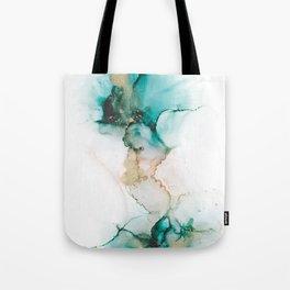 Teal Succulent Tote Bag
