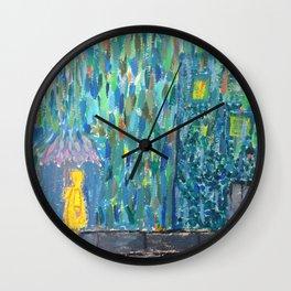 Yellow Rain Jacket Wall Clock