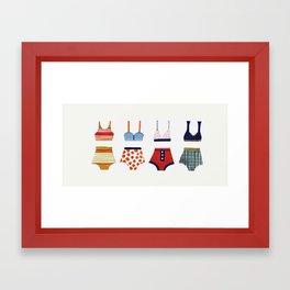 Les bikinis rétro Framed Art Print