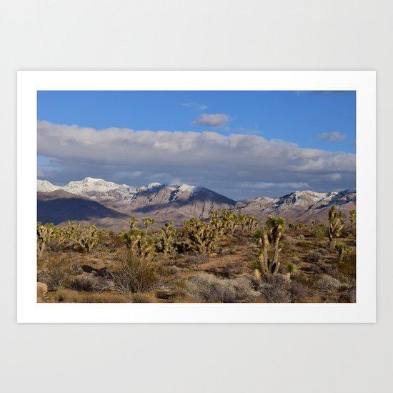 Winter in the Desert Art Print