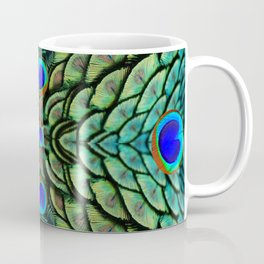Green-Blue Peacock Feathers Art Patterns Coffee Mug