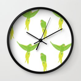Wild Parrots of East Austin Wall Clock