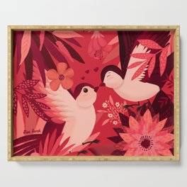 Birds in love Serving Tray