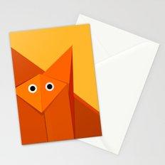 Geometric Cute Origami Fox Portrait Stationery Cards