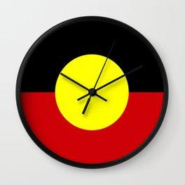 Flag of the australian Aboriginal Wall Clock
