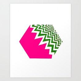 Watermelon Bizcut Art Print