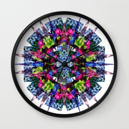 Night Flower Stellation Wall Clock