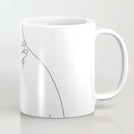 Female body line drawing - Danna Coffee Mug