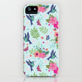 Hummingbird Repeat iPhone Case