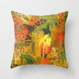 Garden Tiger Moth Throw Pillow