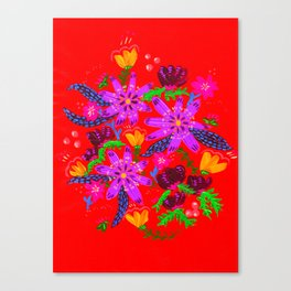 Orange Violets Canvas Print