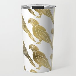 Perched Parrot – Gold Palette Travel Mug