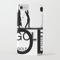 golf iPhone & iPod Cases featuring Golf, golf, golf! b&w by South43