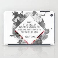 camus iPad Cases featuring Act of Rebellion by O   N   E