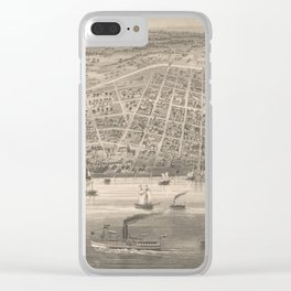 Vintage Pictorial Map of Toledo OH (1860) Clear iPhone Case