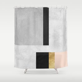 Gold collage II Shower Curtain