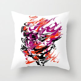 face the whirlwind Throw Pillow