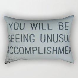 unusual accomplishment Rectangular Pillow