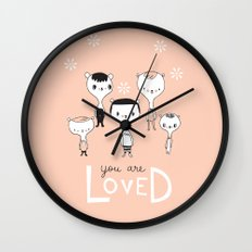 You are Loved - Pink Wall Clock