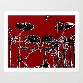 RED SET Art Print