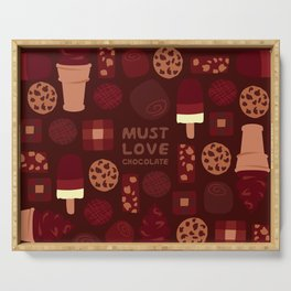 Must Love Chocolate Serving Tray