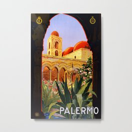Palermo Sicily Vintage Travel Metal Print