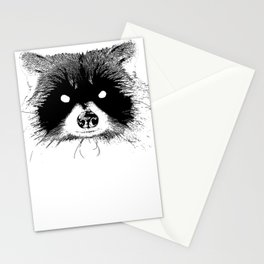 Black Metal Raccoon Stationery Cards