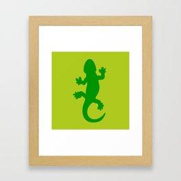 Green Lizard Framed Art Print