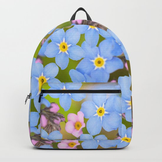 Forget-me-not flowers and buds - summer meadow Backpack