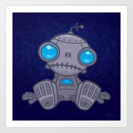 Sad Robot Art Print