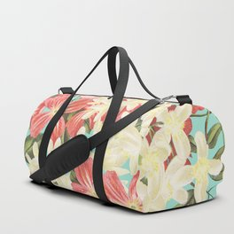 Clematis Floral Pattern Duffle Bag