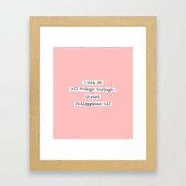 I Can Do All Things Typewriter Framed Art Print