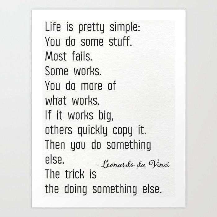 Leonardo da Vinci quote b Kunstdrucke