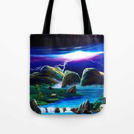 Mt.Olga's lightning Tote Bag