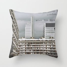 postcard from the barbican... Throw Pillow