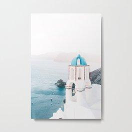 Santorini Greece Mamma Mia Church Photography Metal Print
