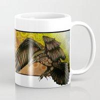 raven Mugs featuring Raven by Alohalani